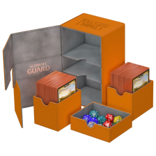 Ultimate Guard Twin Flip´n´Tray Deck Case 160+ Standard Size XenoSkin™ Orange