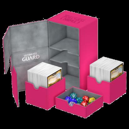 Ultimate Guard Twin Flip´n´Tray Deck Case 200+ Standard Size XenoSkin Pink