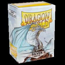Dragon Shield Standard Sleeves - MATTE Sleeves - SILVER(100)