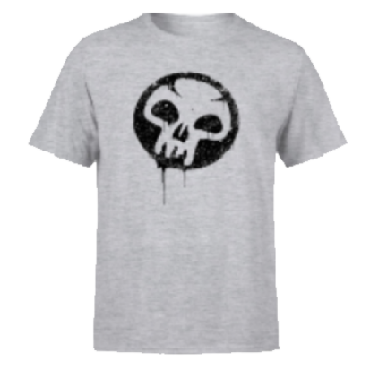 Magic The Gathering Black Mana Splatter Men's T-Shirt - Grey - M