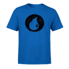 Magic The Gathering Blue Mana Splatter Men's T-Shirt - Royal Blue - M