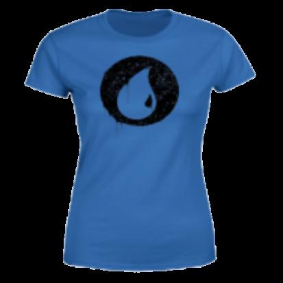 Magic The Gathering Blue Mana Splatter Women's T-Shirt - Royal Blue - M