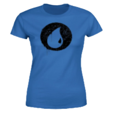Magic The Gathering Blue Mana Splatter Women's T-Shirt - Royal Blue - M