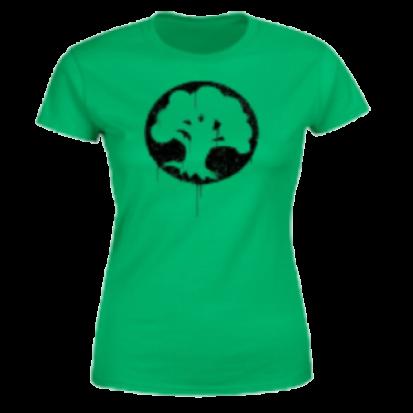 Magic The Gathering Green Mana Splatter Women's T-Shirt - Kelly Green - M
