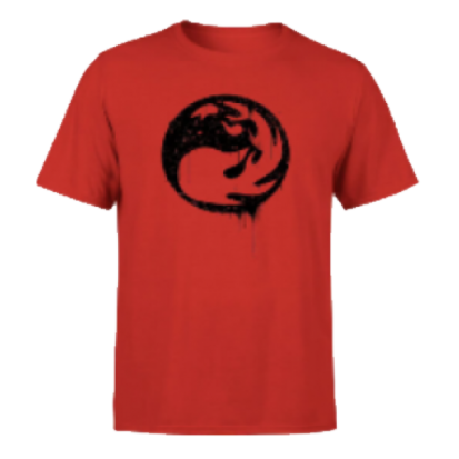 Magic The Gathering Red Mana Splatter Men's T-Shirt - Red - M