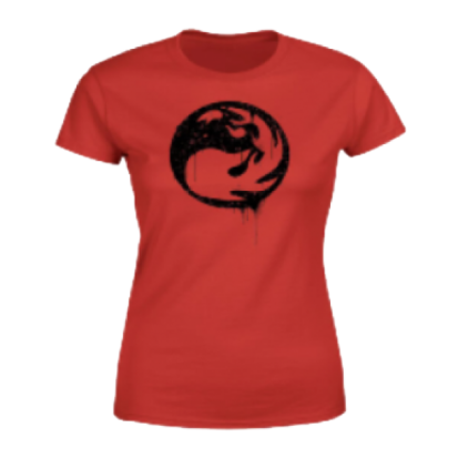 Magic The Gathering Red Mana Splatter Women's T-Shirt - Red - M