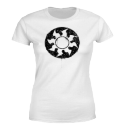 Magic The Gathering White Mana Splatter Women's T-Shirt - White - M