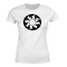 Magic The Gathering White Mana Splatter Women's T-Shirt - White - M
