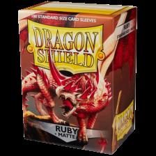 Dragon Shield Standard Sleeves - MATTE Sleeves (100) - RUBY