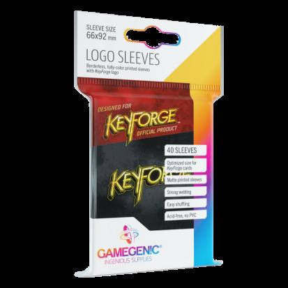 Gamegenic KeyForge Logo Sleeves - Black (40 Sleeves)