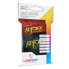 Gamegenic KeyForge Logo Sleeves - Black (40 Sleeves)