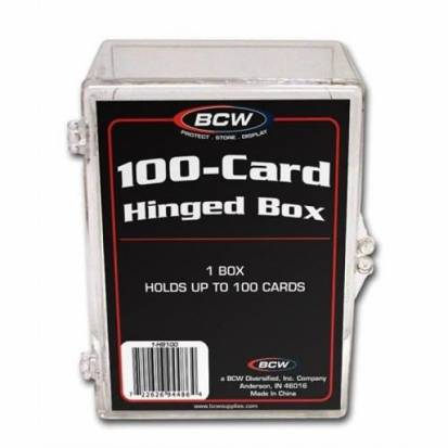 BCW - HINGED BOX - 100 COUNT