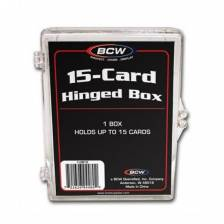 BCW - HINGED BOX - 15 COUNT