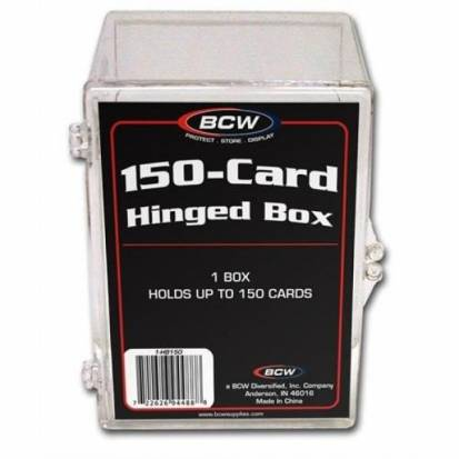 BCW - HINGED BOX - 150 COUNT