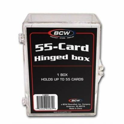 BCW - HINGED BOX - 55 COUNT