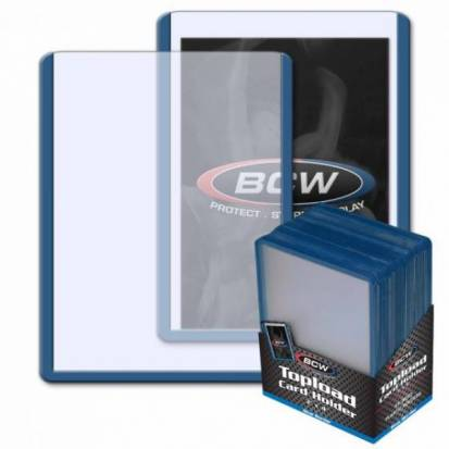 BCW - TOPLOAD HOLDER - 3 X 4 - BLUE BORDER