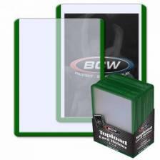 BCW - TOPLOAD HOLDER - 3 X 4 - GREEN BORDER (25)