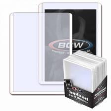 BCW - TOPLOAD HOLDER - 3 X 4 - WHITE BORDER (25)