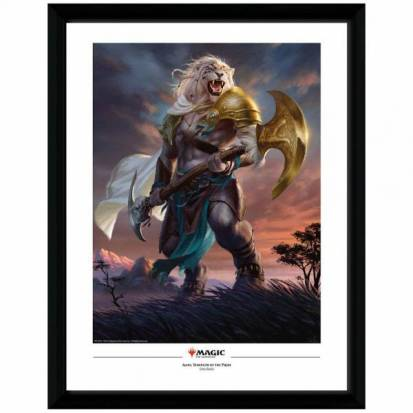 Magic the Gathering Framed Poster Ajani Strength of the Pride