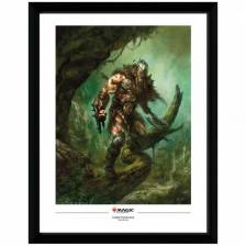 Magic the Gathering Framed Poster Garruk Wildspeaker