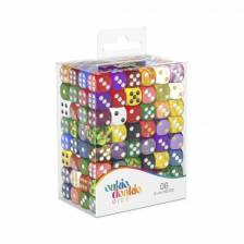 Oakie Doakie Dice D6 Dice Retail Pack 12 mm Mixed (192)