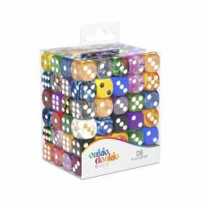 Oakie Doakie Dice D6 Dice Retail Pack 16 mm Mixed (120)