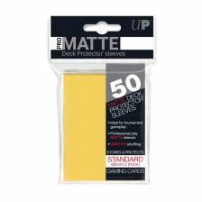 UP - Standard Sleeves - Pro-Matte - Non Glare - Yellow (50 Sleeves)