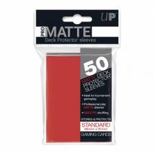 UP - Standard Sleeves - Pro-Matte - Non Glare - Red (50 Sleeves)