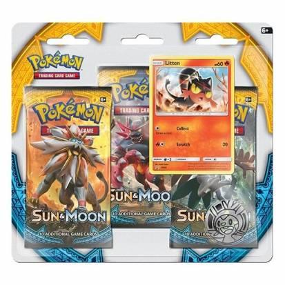 Pokemon - Sun and Moon - 3 Pack Blister (Litten)