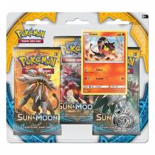 Pokemon - Sun and Moon - 3 Pack Blister (Litten)