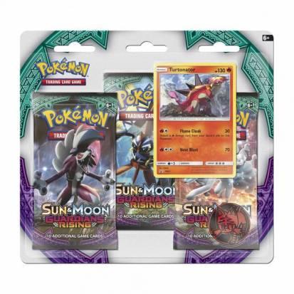 Pokemon - Sun & Moon: Guardians Rising 3 Pack Blister (Turtonator)